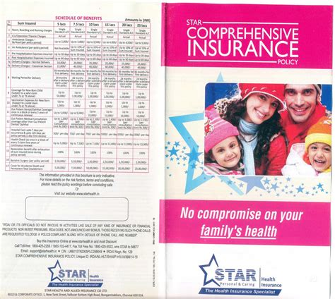 For buying the star health general insurance policy, you can follow the steps given below. Family Star Health Insurance Brochure - Insurance