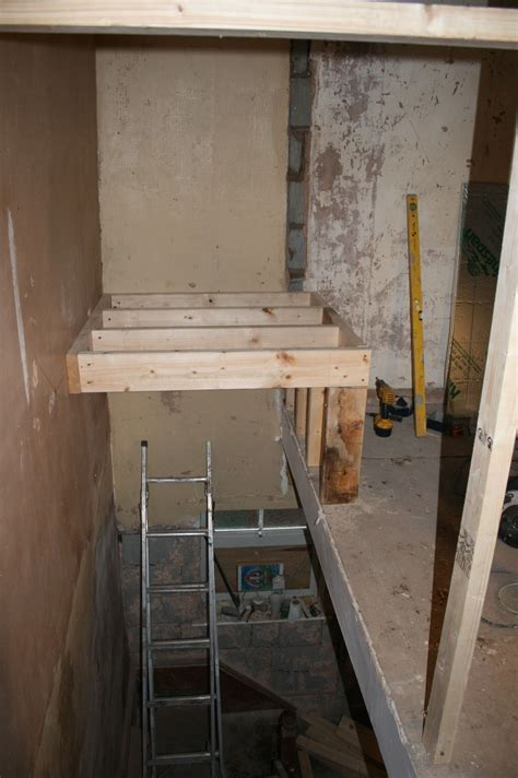 create  small space bed deck  stairs space