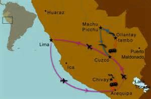 Machu Picchu Peru Map