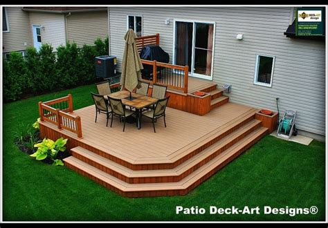 bi level house plans patio deck designs outdoor living traditional deck