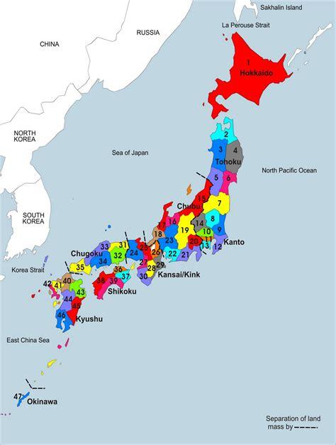 japan map political regional maps  asia regional