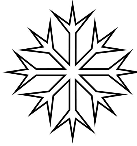 Snowflake Coloring Page Easy Snowflake Coloring Pages Coloring Pages
