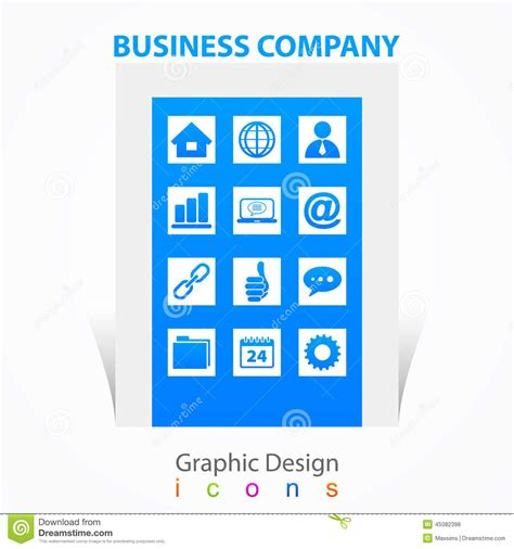 graphic design firm graphic design business company icons signs stock vector