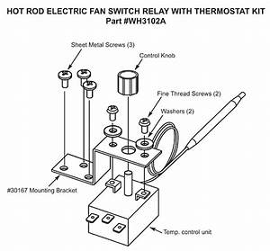 Electric Fan Switch With Thermostat  Adjustable 19824