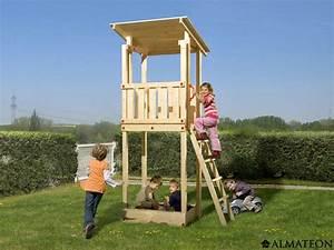 Jeux Exterieur Bois Enfant : tour de jeu pour enfants micky en bois brut 100 x 82 x h ~ Premium-room.com Idées de Décoration