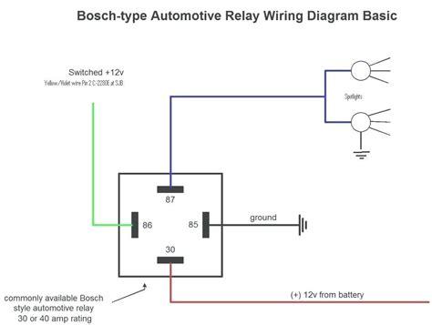 horn relay diagram wiring wiring diagrams