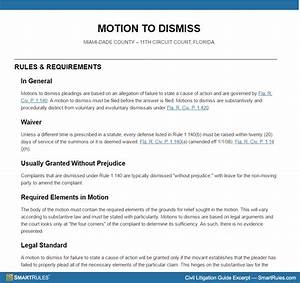 Motion to dismiss with prejudice template images for Motion to dismiss with prejudice template