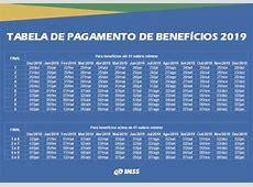 Calendário INSS 2019 Datas de pagamento → Tabela【ATUALIZADA】
