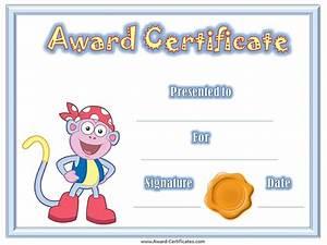 award certificates for children bishops corner web With award certificate for kids