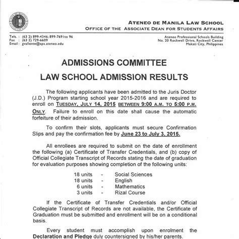 Law School Admission Results  June 15, 2015finalokpdf. Changing Careers Resume Samples. Banking Resume Format. Tear Off Flyer Maker Template. Resume Samples For Pharmacy Technician Template. What Is Objectives On A Resume. Standard Work Template Excel. Power Engineer Cover Letter Template. Day Schedule Template Excel