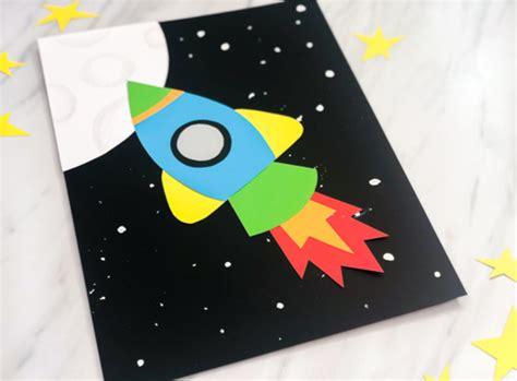 simple amp rocket craft for 849   rocket ship craft idea for kids image