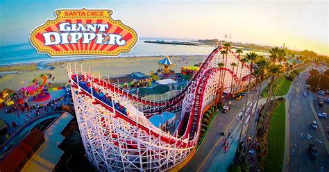 santa cruz beach boardwalk giant dipper roller coaster