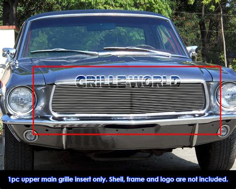 For 1967-1968 Ford Mustang Billet Grille Grill Insert