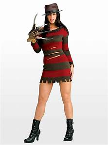 Sexy Miss Freddy Krueger Halloween Womens Costume With