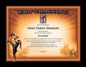 Kru - Muay Thai - Full Coach Certificate