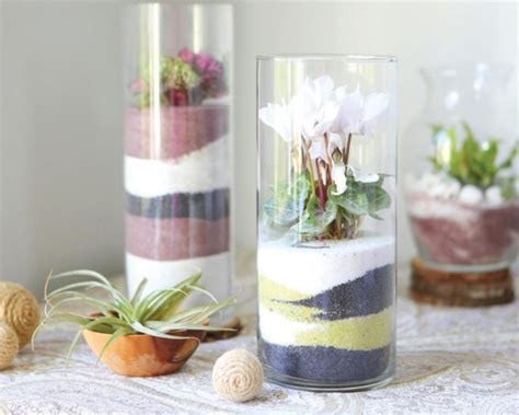 decorating  vase  colored sand
