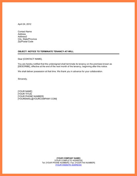 sample letter  terminate lease agreement purchase