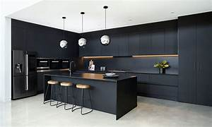 Black, Beauty, A, Bold, Kitchen, With, Silestone, U00ae, Negro, Tebas, By, Vicello, Kitchens