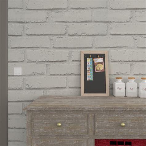 coloris peinture cuisine papier peint vinyle loft brique coloris gris perle gris