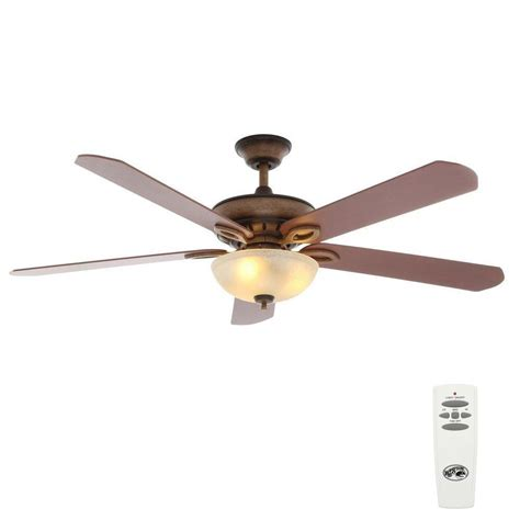 60 ceiling fans with light and remote hton bay asbury 60 in indoor gilded espresso ceiling