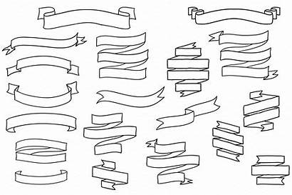 Banner Banners Clipart Vector Drawing Clip Drawn