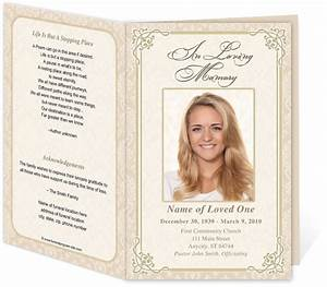 8 best images of free printable funeral service templates With free downloadable funeral program templates