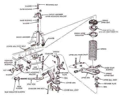 Ford Mustang Front Suspension Exploded Diagram