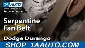 How To Replace Serpentine Belt 98-03 Dodge Durango