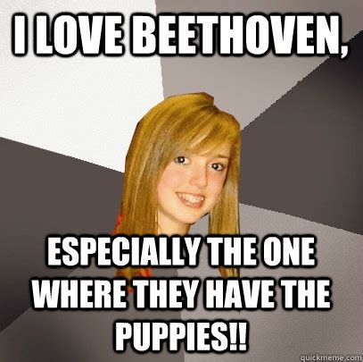 Beethoven Meme - i love beethoven especially the one where they have the puppies musically oblivious 8th