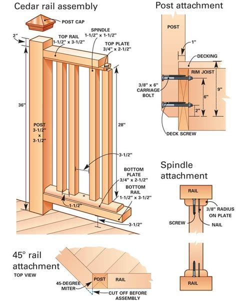 Porch Railing Dimensions by Attach Post Railing Supports At The Appropriate Heights