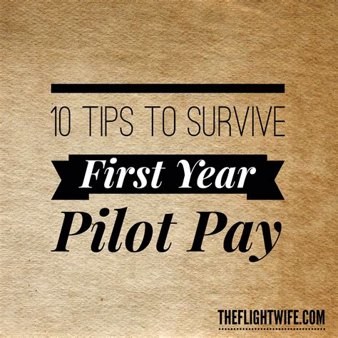 10 Tips To Survive First Year Pilot Pay  The Flight Wife