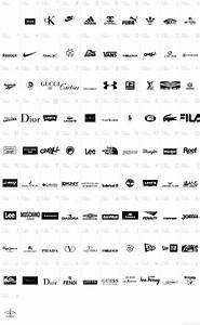 9 best images of clothing logos and names list top With clothing brand logos with names