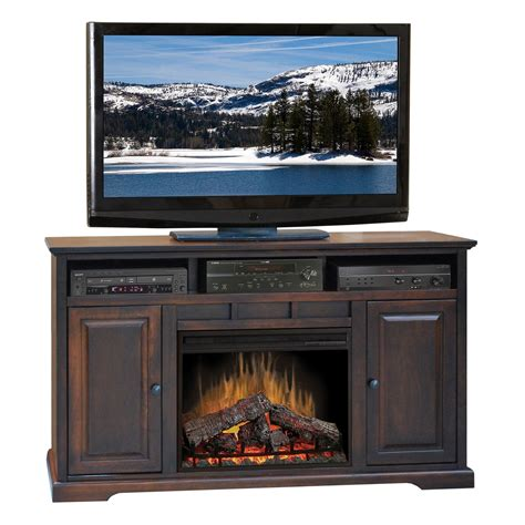 electric fireplace tv stands legends furniture brentwood cherry 64 quot electric