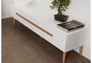 Meuble Style Scandinave : meuble tv 2 tiroirs scandinave blanc amadeus amadeus 19832 ~ Teatrodelosmanantiales.com Idées de Décoration