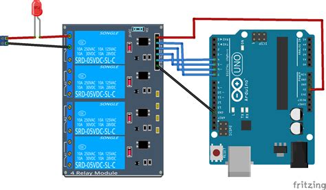 5 volt 4 channel arduino relay module exle arduino learning