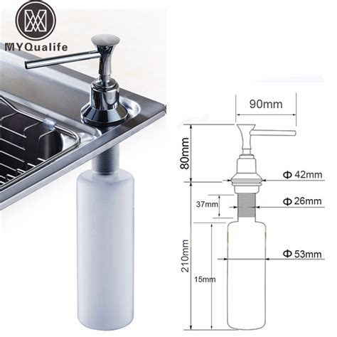 soap dispenser kitchen sink cheaper promotion kitchen soap dispenser plastic bottle 5582