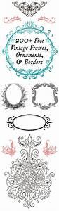 Rahmen Vorlagen Schnörkel : 200 free vintage ornaments frames and borders rahmen druckvorlagen und vorlagen ~ Eleganceandgraceweddings.com Haus und Dekorationen