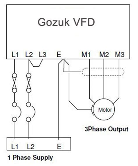 50hz 220v Wiring Diagram by 1hp Vfd 50hz 60hz 220v Single Phase Input