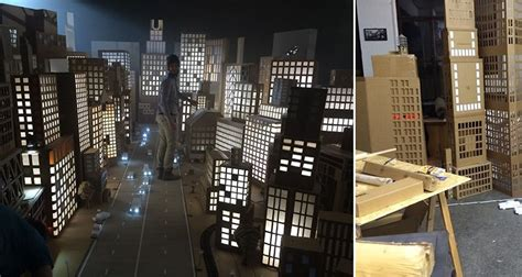 amazing cardboard box city  spreads