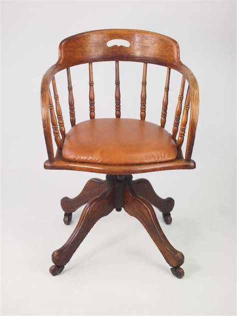 antique desk chair antique edwardian oak swivel chair with leather seat
