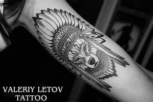 Native American Wolf Tattoo | Venice Tattoo Art Designs