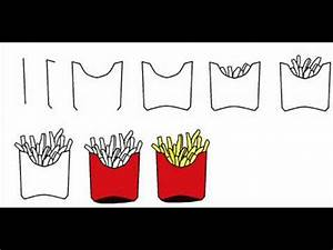 How To Draw French Fries Step By Step Drawing Tutorial ...
