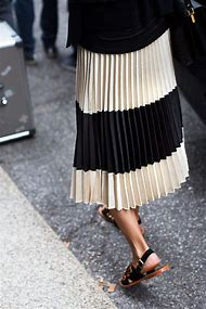 Pleated Midi Skirt Fashion