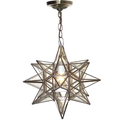 moravian pendant chandelier small clear glass by