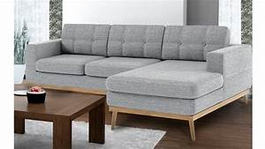 Canapé D Angle Scandinave : canap d 39 angle tolbon capiton de style scandinave en tissu mobilier moss ~ Teatrodelosmanantiales.com Idées de Décoration