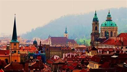 Prague Czech Republic Europe Forest Wallpapers Rooftops