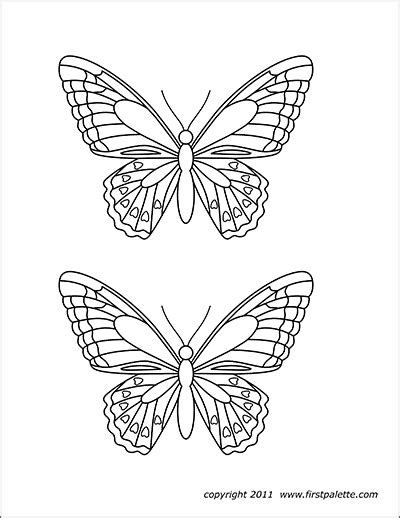 butterflies  printable templates coloring pages