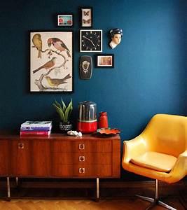 Couleur Bleu Canard Deco : d co salon bleu canard paon p trole du goudron et des plumes obsigen ~ Melissatoandfro.com Idées de Décoration