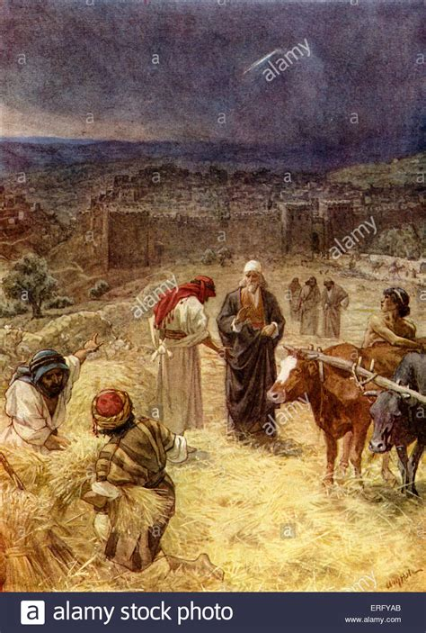 king david purchasing the threshing floor of araunah the jebusite 2 stock photo royalty free