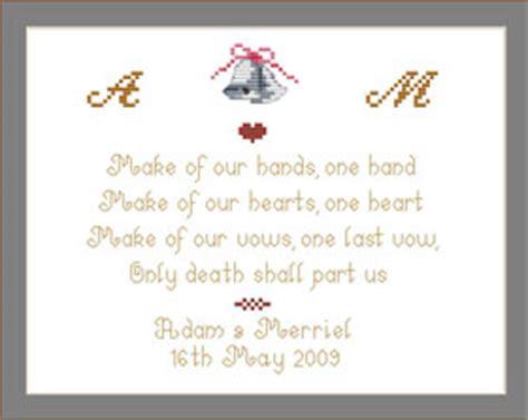 cross stitch wedding ring bearers pillow